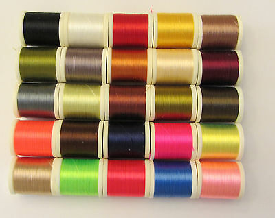 All 25 colors of Danville 140 Denier Flymaster Plus Waxed Fly Tying Thread