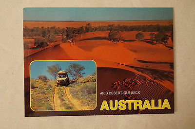 Arid Desert Outback - Australia - Collectable - Postcard.