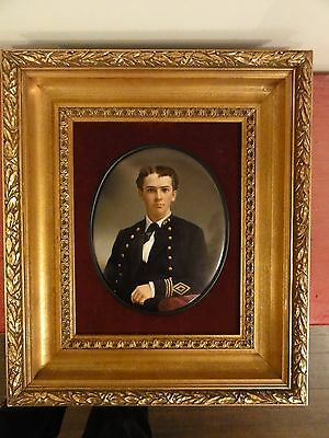 Absolutely beautiful large 19th cen hand painted KPM plaque of a naval officer
