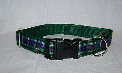 mackenzie tartan green scottish dog collar or lead or complete set