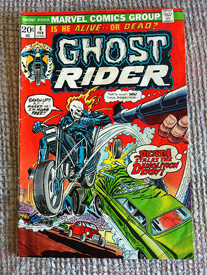 Vintage Ghost Rider # 4 Marvel Bronze Age Comic