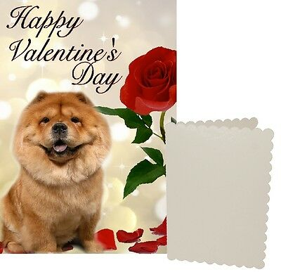 Chow Chow Dog C5 Valentines Day Card Design VCHOW-1 by paws2print