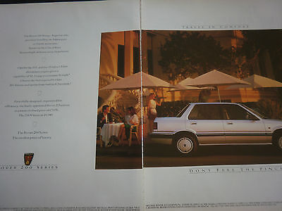 ROVER 200 SERIES - 2 page COLOUR ADVERT
