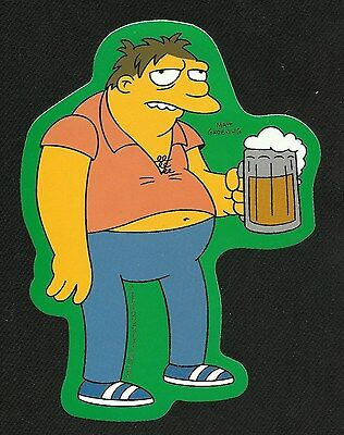 """BaRNeY GuMbLE - ThE SiMPSoNS - LiCENSeD DECAL STICKER """"DRUNK BARNEY WITH A BEER"""""""