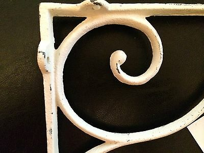 (2) Vintage Iron Corbels shelf brackets, Countertop supports Cream Color NWT