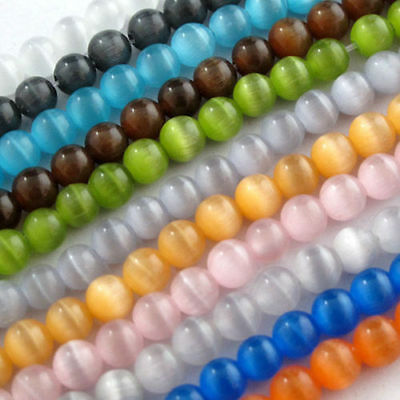 4mm,6mm,8mm,10mm,10Color-1 Or Mixed Cat Eye Gemstone Round Loose beads