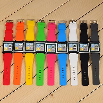Watch Band Wrist Strap Silicone Cover Case 6th Generation For Apple iPod Nano 6