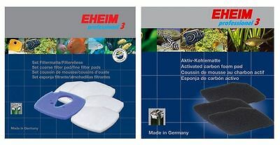 Eheim Professionel 3 Filter Foam Felt Pad Set Carbon Fish Tank Pro Sponge Media