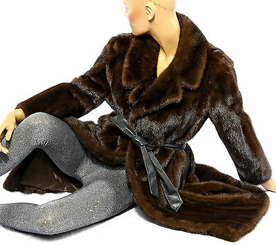 Braun Nerz Mantel Pelzmantel Pelz brown mink fur coat Vintage soft Echtfell Fell
