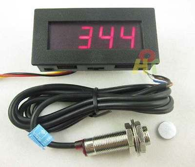 Tachometer RPM Speed Digital LED Meter + Hall Proximity Switch Sensor +Magnet R