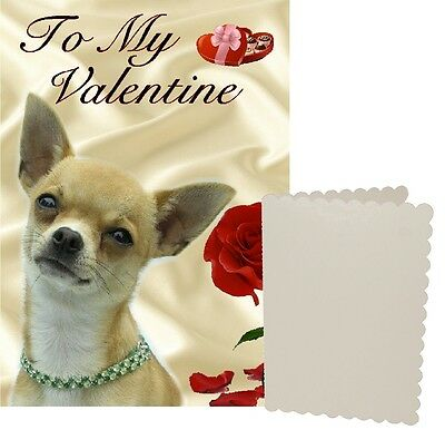 Chihuahua Dog C5 Valentines Day Card Design VCHI-1 by paws2print
