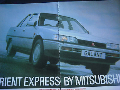 MITSUBISHI GALANT - 2 page COLOUR ADVERT