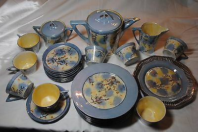 27 Piece Hutschenreuther LHS Selb Bavaria Germany, Tea Snack Service 1928 Signed