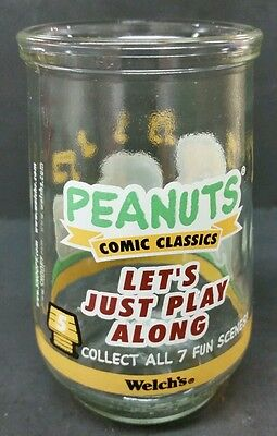 Welch's Peanuts Comic Classics #5 Let's Just Play Along  Juice Glass Jelly Jar