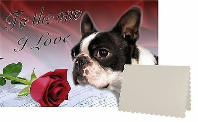 Boston Terrier Dog C5 Valentines Day Card Design VBOSTON-1 by paws2print