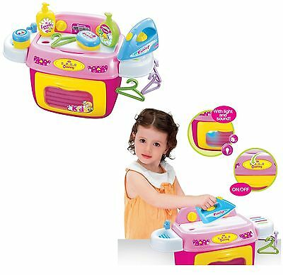 Girls Wash Day Fun Role Play Learning Set Washer Cleaner Ironing Kids Toys New