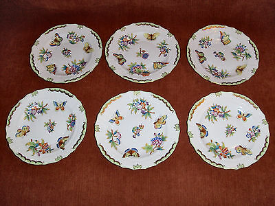 """Herend Queen Victoria Rocaille salad plate set of 6.  7.4"""""""