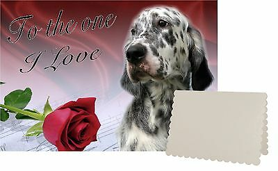 English Setter Dog C5 Valentines Day Card Design VENGSETTER-1 by paws2print