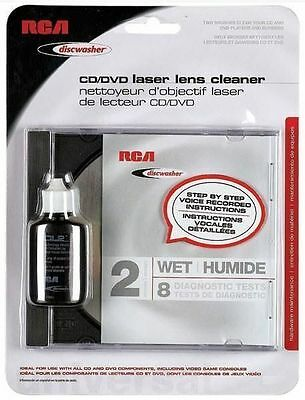 RCA Discwasher CD DVD Laser Lens Cleaner 2 Brush Wet 8 Tests in Factory Package