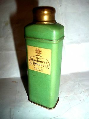 vintage small Cashmere Bouquet Colgate Talc tin 3 3/8  inches size sample