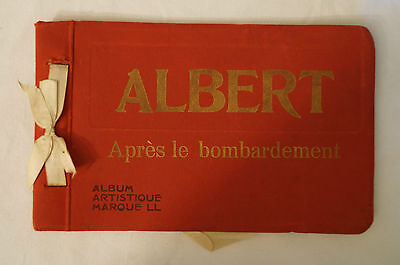 Vintage Photocard Souvenir Album - Albert -Apres le bombardement - 18 Photocards