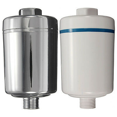 Softener Remove Inline Shower Faucet Head Filter Chlorine Water Purifier Chrome