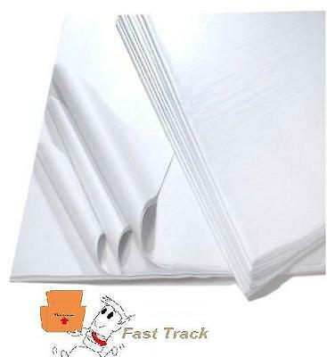 100 SHEETS OF WHITE ACID FREE TISSUE PAPER 500mm x 750mm *HIGH QUALITY*