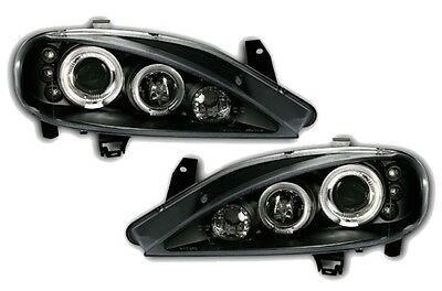 Phares Avant Av Angel Eyes Noir Renault Megane 1 Ph2 1999-2002 Berline Coupe
