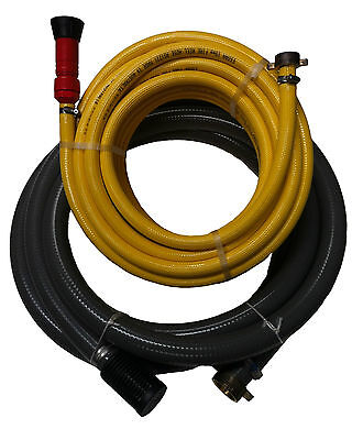 "Fire Fighting Hose Kit - 1x 1 1/2"" Suction Hose & 1x 3/4"" Discharge Hose"