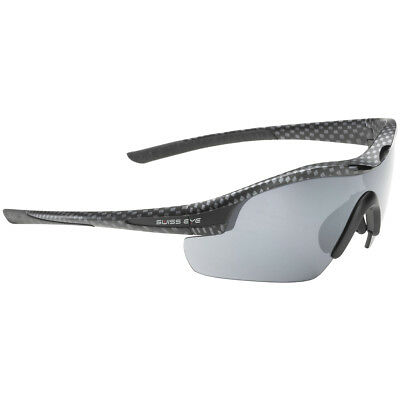 Swiss Eye Novena Sunglasses Carbon Matt and Black Frame 3 Interchangeable Lenses