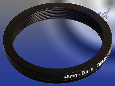 48mm-42mm 48-42 Filter Adaptor Ring Converts 48mm lens thread to 42mm Step-Down