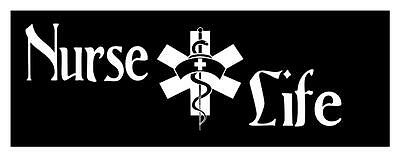 Nurse Life Medical Cross 3X9 Scrubs Rn Lpn Ccn Locker Wall Art Decal Sticker