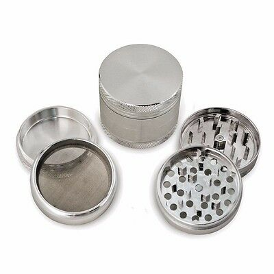 50mm 4part Grinder  Magnetised Anodized Aluminium Pollinator Metal Herb Spice