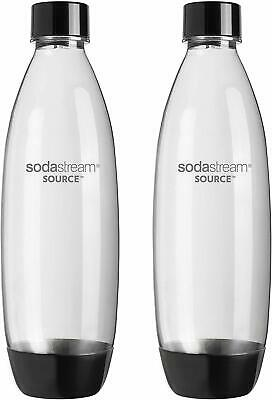 SodaStream 1 Litre Carbonating Bottles Twin Pack Grey Fits all Soda Drinkmakers
