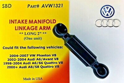 """HIGH QUALITY for AUDI VW INTAKE MANIFOLD LINK ARM LONG 2""""  ONE UNIT 077198327A"""