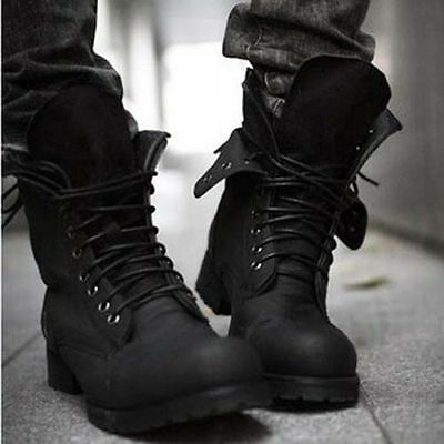 New Retro Combat boots Winter British-style fashionable Men's short casual shoes