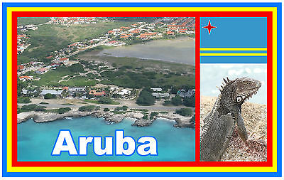 Aruba - Souvenir Novelty Fridge Magnet - Brand New - Gift