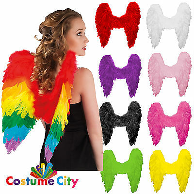 Adults Feather Angel Wings Fairy Halloween Fancy Dress Party Costume Accessory