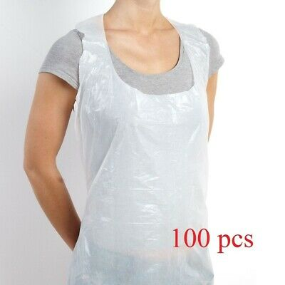 Disposable Plastic Apron Personal Transparent Water Proof Pkt of 100 Pcs
