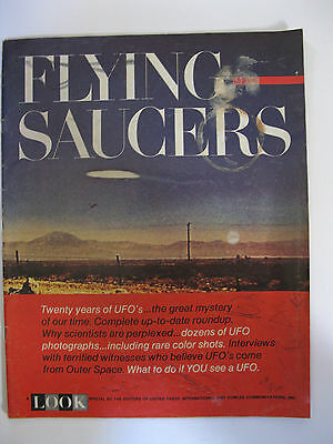 """Vintage 1967 """"Look Magazine,"""" Flying Saucers: Special Issue, Twenty Years of UFO"""