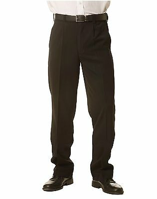 New Mens Permanent Press Casual Business Work Office Suit Black Navy Pants