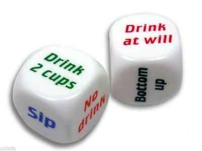 Drinking Dice Party Game, Adult, Stag, Hen, Party, Pub, Gift, Funny, Die, Bar