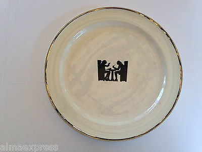 "TST Co Taylor Smith & Taylor HALL Silhouette TAVERN Taverne 8-1/4"" Plate"