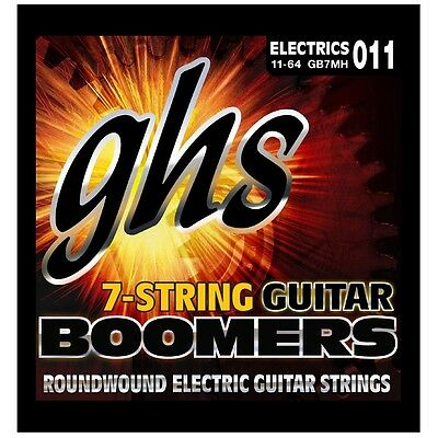 GHS GB7MH Boomers 7-String Medium Heavy Roundwound Electric Guitar Strings 11-64