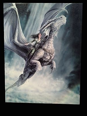 Take To The Air. by Anne Stokes. Wall Plaque. Dragon Riding. Fairy. Fantasy