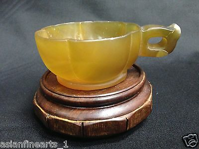 Old Chinese Natural Agate Brush Washer - Antique Decoration #313