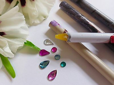 NEW Wax Resin Pencil Rhinestone Picker Up Gem Jewel Bead Nail Art Craft Tool