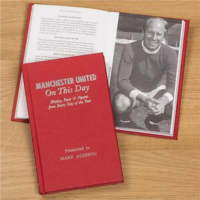 Personalised Manchester United Football Book On This Day Memorabilia Gift
