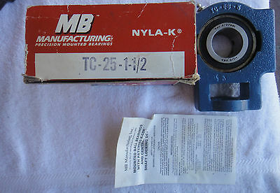 NIB MB Manufacturing Precision Mounted Bearing    TC-25-1-1/2