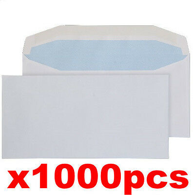 1000 x DL Mail Gummed Envelope Home Office Document Letter Quality New 110x220mm